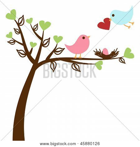 Bird Family Baby Shower Invitation Template
