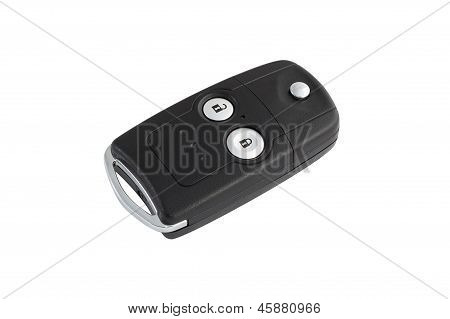 Isolated Car Door And Ignition Key With Path