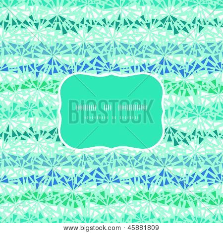 Abstract ice chrystals texture frame seamless pattern background