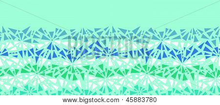 Abstract ice chrystals texture horizontal seamless pattern