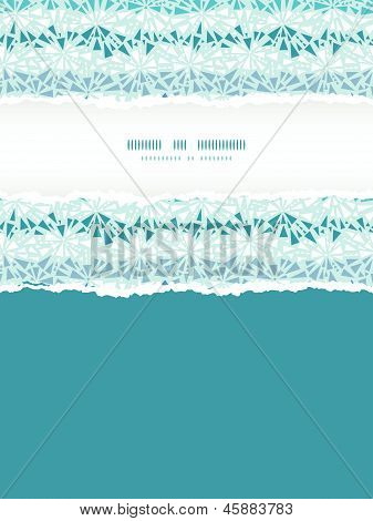 Abstract ice chrystals texture vertical torn frame seamless pattern background