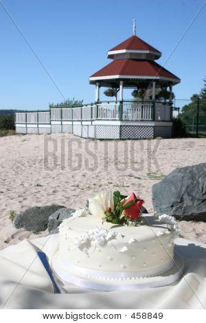 Wedding Cake On The Beach