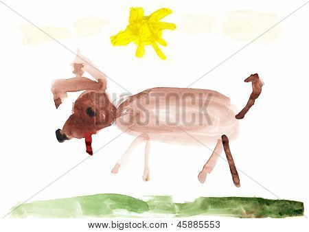 Dog Children's Drawing