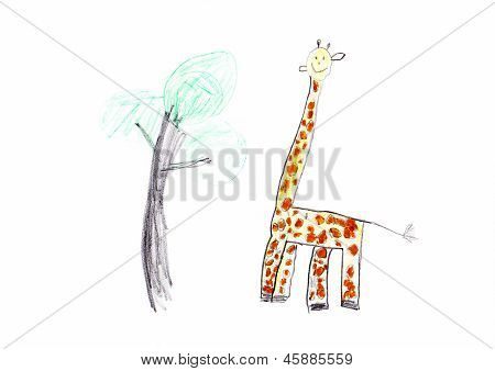 Giraffe Children's Drawing