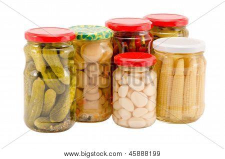 Marinated Preserve Ecologic Organic Food Glass Pot