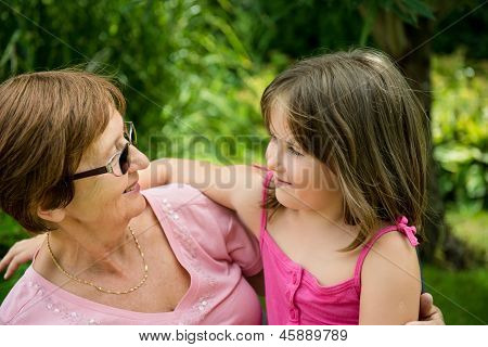 Together - grandmother with granddaughter