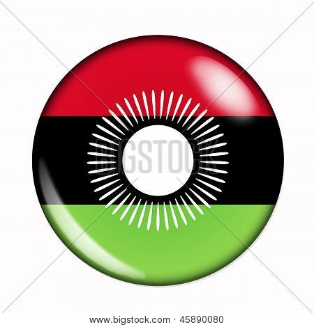 Button Flag Of Malawi