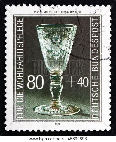 Postage Stamp Germany 1986 Engraved Goblet, C. 1720