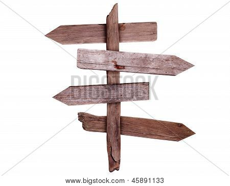Old Wooden Direction Signs