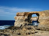stock photo of gozo  - Azure Window - JPG