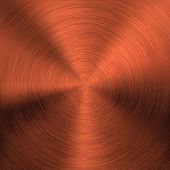 pic of bronze silver gold platinum  - Bronze metal background with realistic circular brushed texture  - JPG