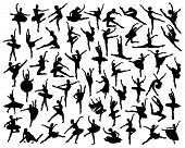 picture of ballerina  - Big collection of silhouettes of ballerina  - JPG
