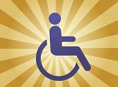 pic of physically handicapped  - Handicap symbol illustration icon of wheelchair clipart - JPG