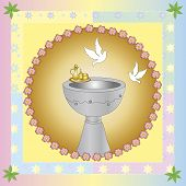 picture of baptism  - a Symbolic illustration for the baptism with dove - JPG