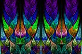 pic of scythe  - Fractal pattern in stained glass style - JPG