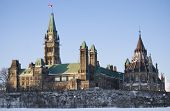 image of crips  - The Canadian Centre Block Peace Tower and the Library are basking in the morning sun - JPG