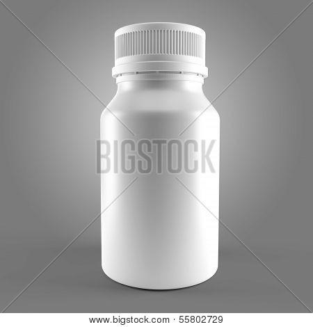 White Bottle For Medecine