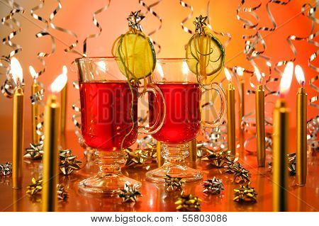Hot wine punch