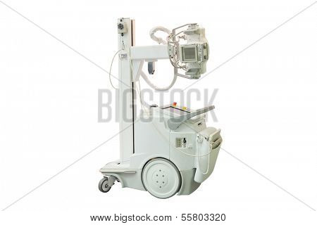 mobile x-ray machine under the white background