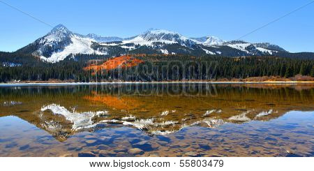 Lost lake slough  in middle of Colorado Rocky mountains