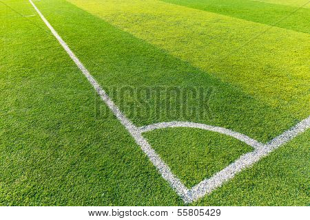 Corner of a synthetic football field