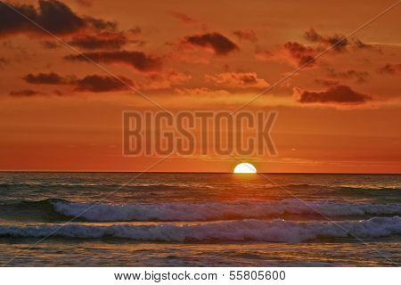 Impressionistic Pacific Sunset