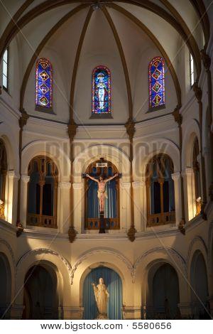 Notre Dame Catherdral Inner Part Basilica Saigon Vietnam