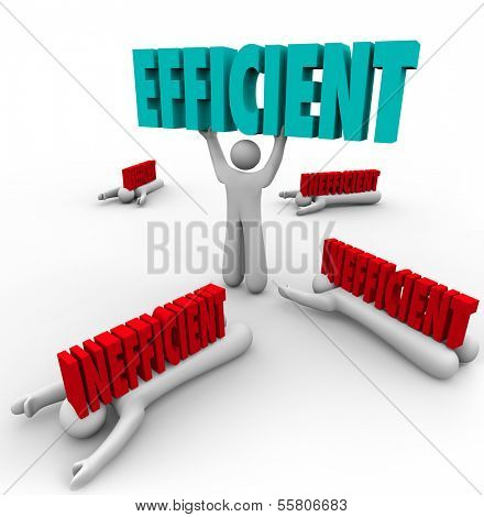 Efficient Word Held by Winner Inefficient People Lose