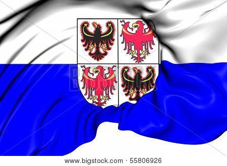 Trentino-alto Adige Flag, Italy.