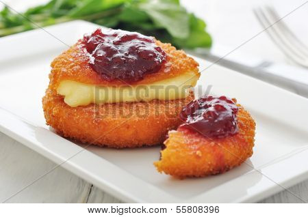 Breaded And Baked Camembert