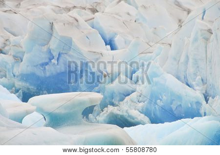 ARGENTINA - FEBRUARY 15: Close up view of the Viedma Glacier in Los Glaciares National Park in Argentina.