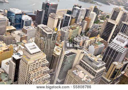 AUSTRALIA - NOVEMBER 16: Downtown Sydney, Australia from Sydney Tower.