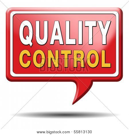 Quality control label 100% guaranteed warranty and top product label