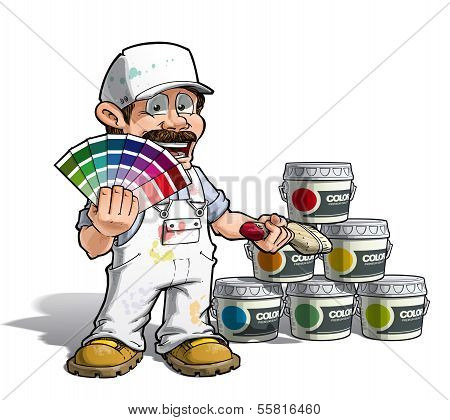 Handyman - Colour Picking Painter White Uniform