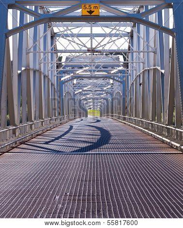 Alaska Highway Alcan Steel Bridge Infrastructure