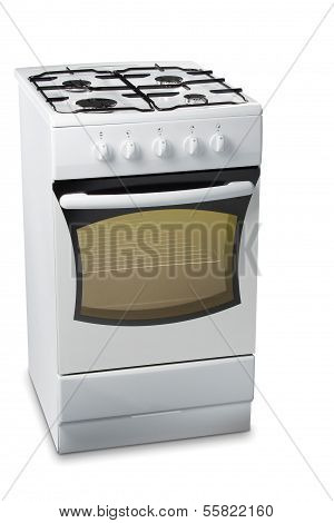 Gas Stove With Light In Oven