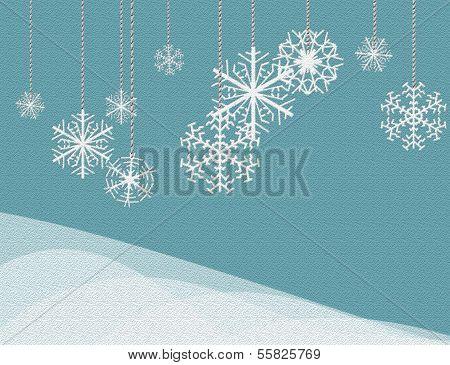 hanging snowflakes