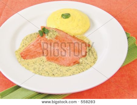 Trout In Watercress Sauce