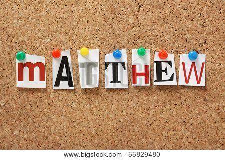 The name Matthew