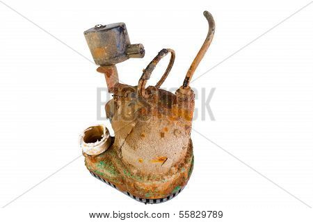 Old Broken Rusty Sump Pump