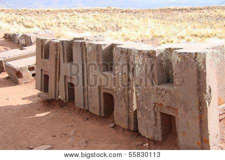 Identical figured blocks of Puma Punku Ruins