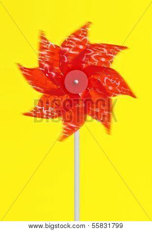 Colorful Red Pinwheel