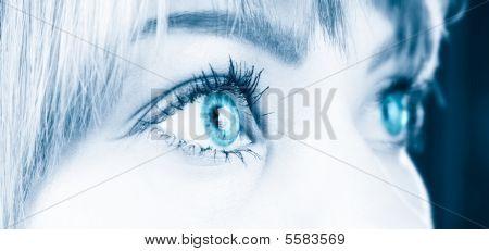 Woman Eyes Close-up