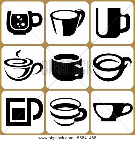 Cup Icons Set