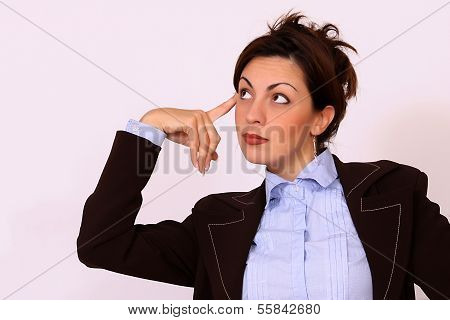 Businesswoman, thinking pose