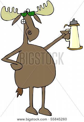 Moose raising a toast