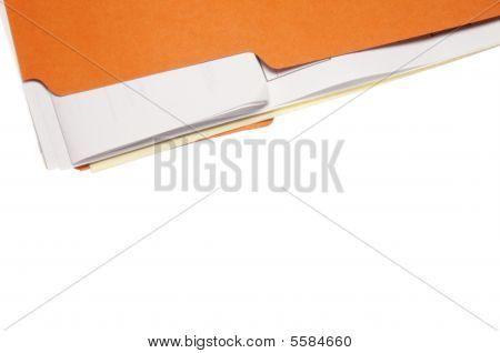 Orange File Folder