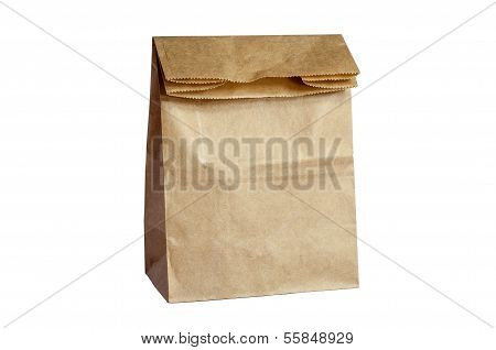 Brown Paper Bag Lunch(with clipping path)