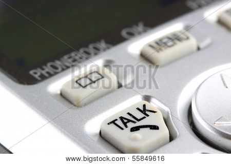 phone keypad closeup