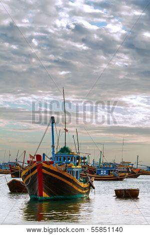 Boat Evening Fishing